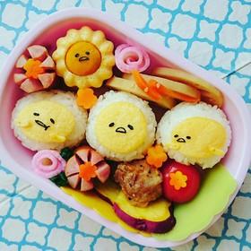 キャラ弁♪薄焼き卵で簡単❗ぐでたま♪