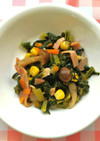 小松菜のソテー 給食