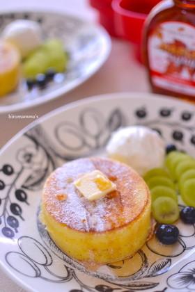 セリア型を使って厚焼きパンケーキ