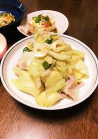 激辛旨!青唐辛子と豚肉、野菜の酒蒸し