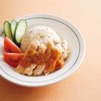チキンとセロリのカオマンガイ