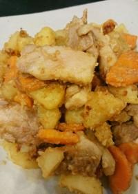鶏とお芋のゴマ味噌炒め