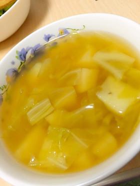 キャベツとじゃがいもだけのスープ