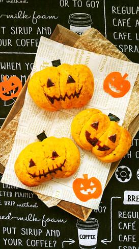 ハロウィンにも☆簡単かぼちゃちぎりパン。