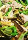 簡単~焼肉のタレで豚肉、茄子炒め