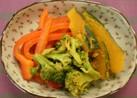 カラフルカラー野菜のカレー風味煮