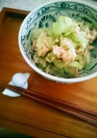 りゅうきゅう(蓮芋)のツナマヨ和え