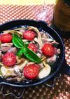 砂肝と干しエリンギのアヒージョ