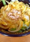 簡単ツナとレタスマヨのたまご丼
