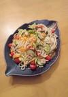 ひき肉と彩野菜のパスタ