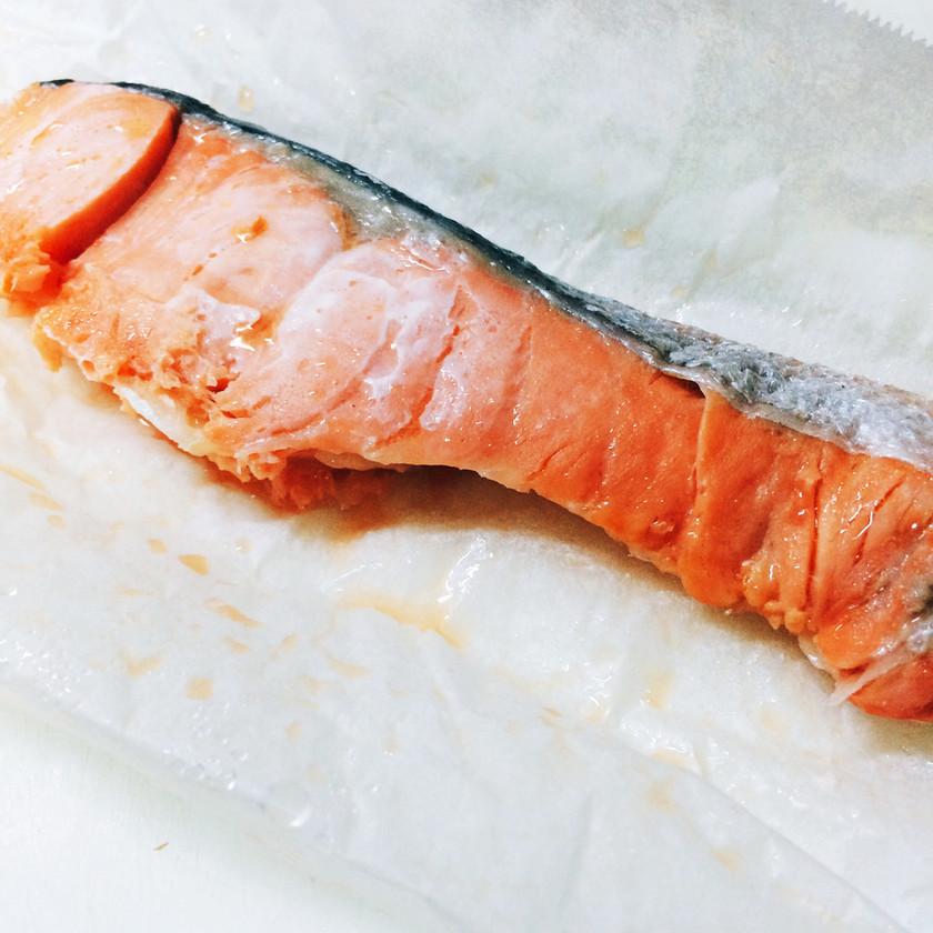レンジで1分30秒!簡単!焼き鮭