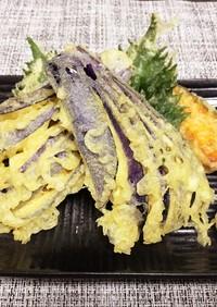 天ぷらの茄子の切り方