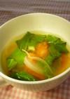 モロヘイヤとトマトのスープ☆産後