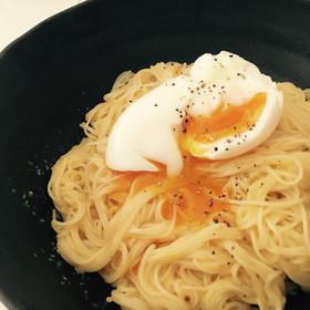 材料3つで!簡単ずぼらカルボナーラ素麺!