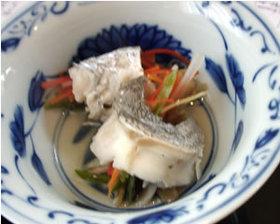 白身魚の巻き蒸し