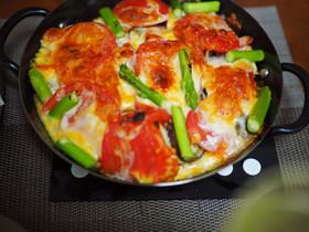 夏野菜のチーズ焼き