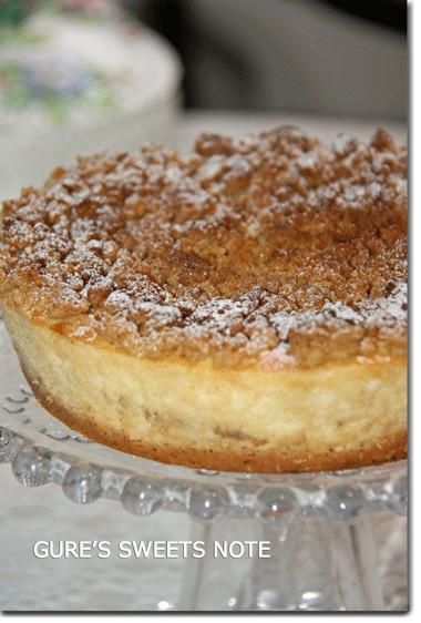パイナップルのクランブルチーズケーキ