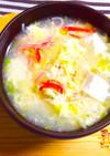 中華風かに玉スープ