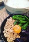 鶏そぼろと野菜の揚げ浸し