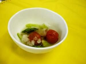 アスパラとトマトのおろしあえ☆野菜