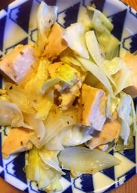 簡単!サラダチキンで柚子胡椒野菜炒め