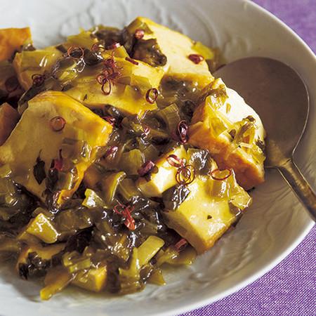 高菜と厚揚げの炒め煮