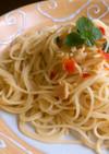 3種のハーブのスープで簡単パスタ