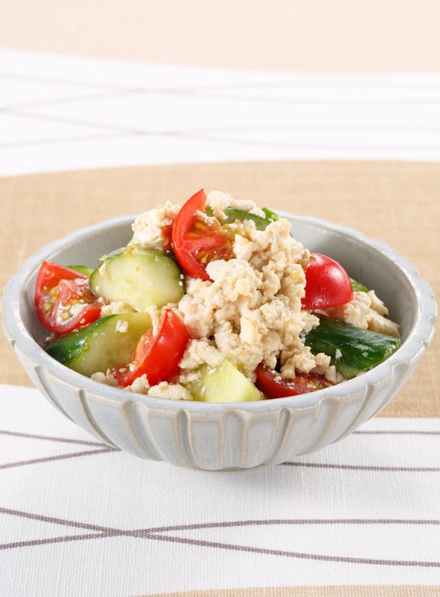 豆腐ときゅうりの柚子こしょうサラダ