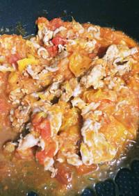 豚肩切り落としのオレンジトマトソース煮
