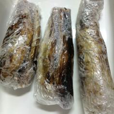 茄子の冷凍保存  (皮むき編)