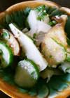 面取り冬瓜と胡瓜と茄子の大葉酢味噌