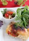鶏肉のグリル トマトソースサンド