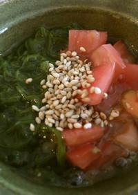 トマトとめかぶの柚子胡椒和え