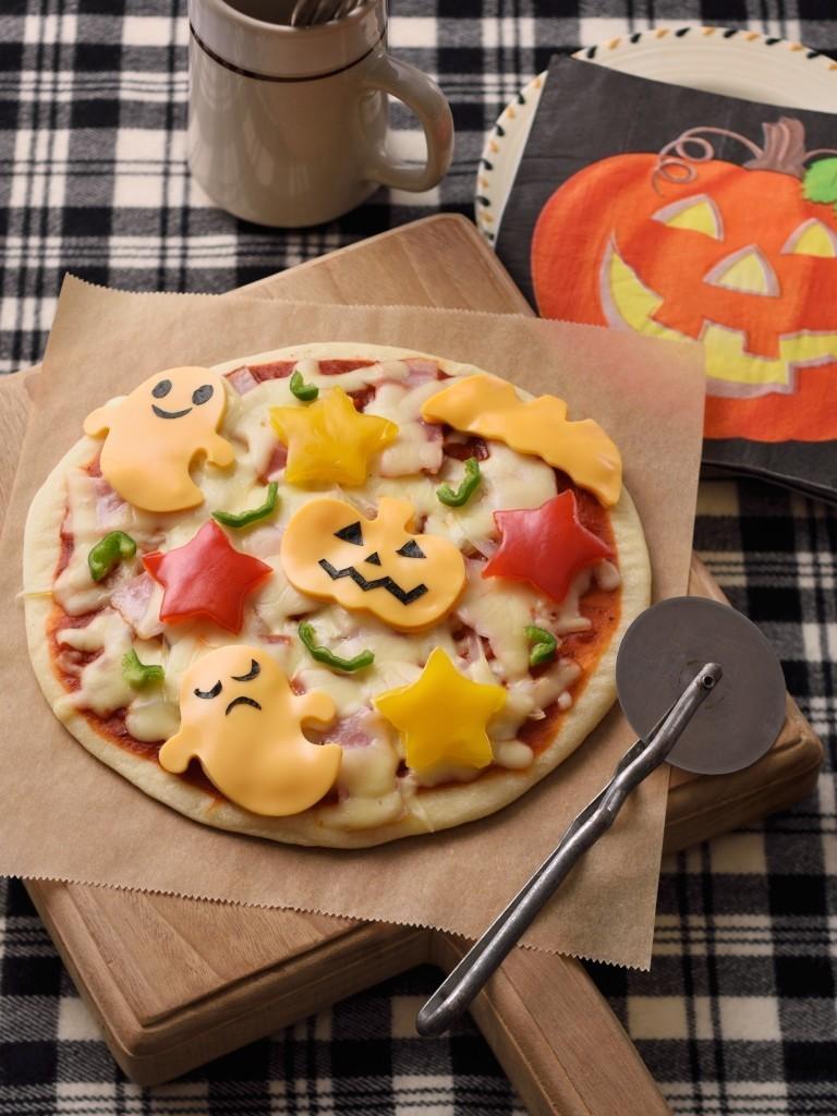 バター好き♪ハロウィン簡単フライパンピザ