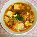 簡単♡きのこのヘルシーあんかけ豆腐♡
