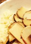 本つゆ香り白だしブータン産松茸ご飯♪