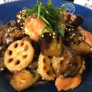 常備菜♡簡単!鶏肉と茄子と蓮根の甘酢あんの写真