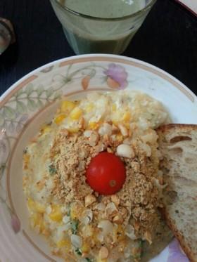 卵雑炊朝食(血管ダイエット食897)