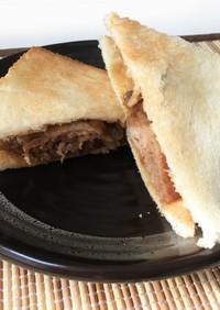 和風  生姜焼きのサンドイッチ