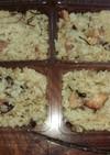 焼鳥缶と干し椎茸と塩昆布で炊き込みご飯