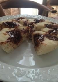 ハロウィンに☆まだら模様のチョコ蒸しパン