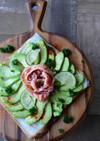 アボカドと生ハムの超簡単春巻き皮ピザ