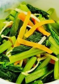 簡単!小松菜とえのきのナムル