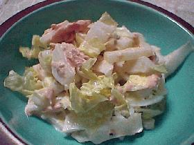 生でシャキッと!白菜の和風ツナマヨサラダ
