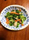 彩り野菜の鮭缶和え