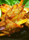 ◆ゴボウ香る♪さつま芋と鶏挽肉のかき揚げ