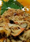 豆腐ハンバーグ♪きのこカニかまの和風タレ