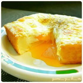 5分で完成! 卵入り厚揚げチーズ♪