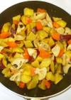 簡単おかず♪さつま芋とレンコンの辛子煮物