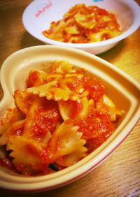 チーズとろり☆リボンパスタのトマトソース